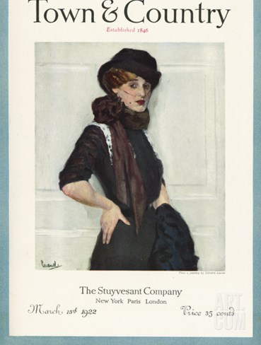 Town & Country, March 15th, 1922 Stretched Canvas Print