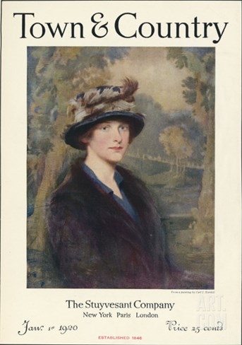 Town & Country, January 1st, 1920 Stretched Canvas Print