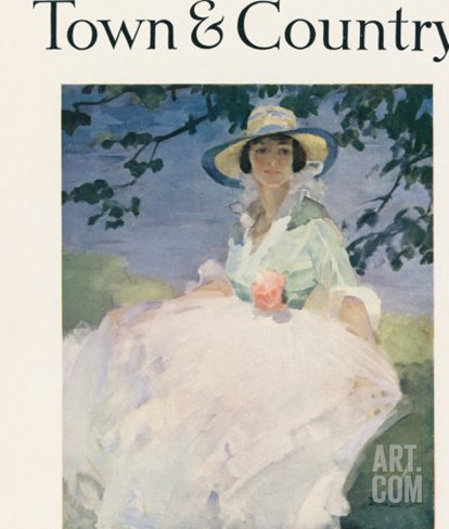 Town & Country, August 10th, 1917 Stretched Canvas Print