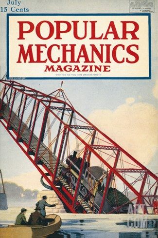 Popular Mechanics, July 1918 Stretched Canvas Print
