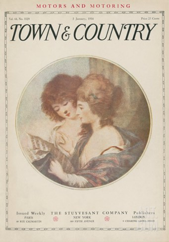 Town & Country, January 3rd 1914 Stretched Canvas Print