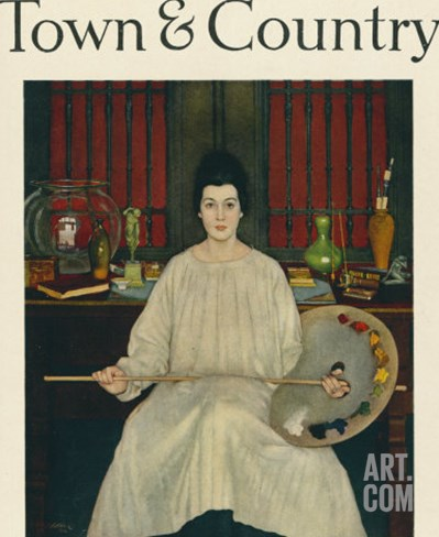 Town & Country, March 20th, 1917 Stretched Canvas Print