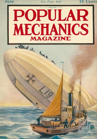 Popular Mechanics, June 1916 Stretched Canvas Print