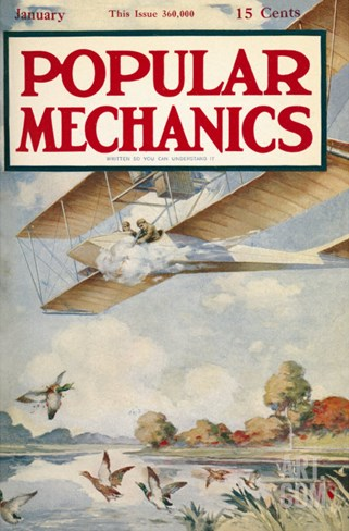 Popular Mechanics, January 1913 Stretched Canvas Print