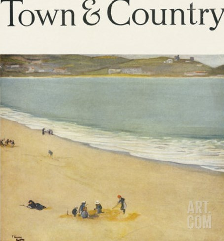 Town & Country, July 1st, 1918 Stretched Canvas Print
