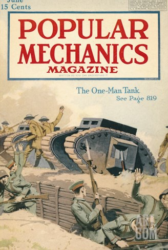 Popular Mechanics, June 1918 Stretched Canvas Print