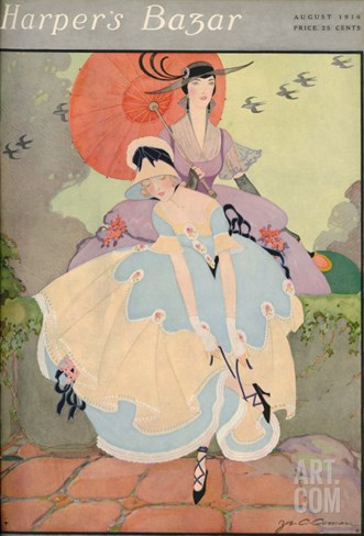 Harper's Bazaar, August 1916 Stretched Canvas Print