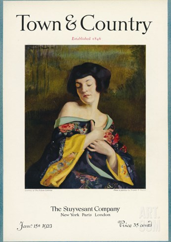 Town & Country, January 15th, 1923 Stretched Canvas Print