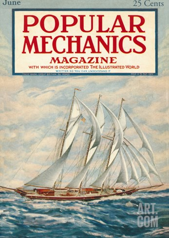 Popular Mechanics, June 1923 Stretched Canvas Print