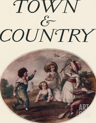Town & Country, August 8th, 1914 Stretched Canvas Print