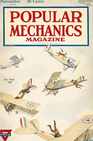 Popular Mechanics, November 1918 Stretched Canvas Print