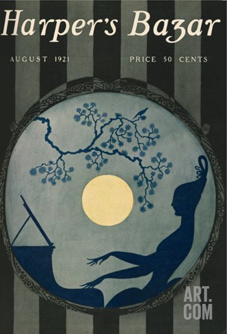 Harper's Bazar, August 1921 Stretched Canvas Print