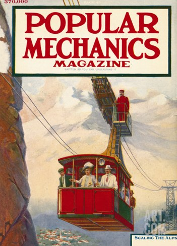 Popular Mechanics, July 1913 Stretched Canvas Print