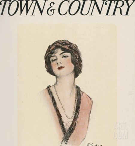 Town & Country, February 28th, 1914 Stretched Canvas Print