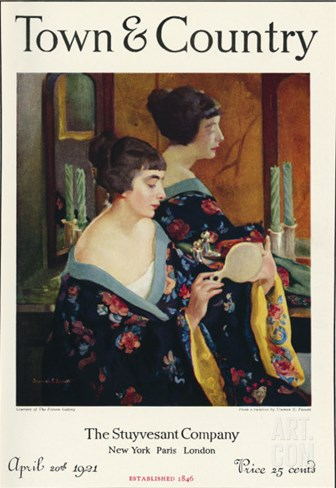 Town & Country, April 20th, 1921 Stretched Canvas Print