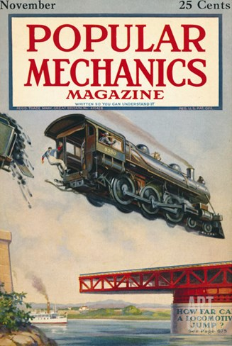 Popular Mechanics, November 1922 Stretched Canvas Print