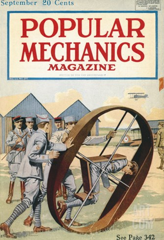 Popular Mechanics, September 1918 Stretched Canvas Print