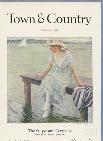 Town & Country, July 15th, 1923 Stretched Canvas Print