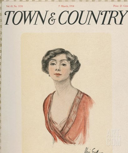 Town & Country, March 7th, 1914 Stretched Canvas Print
