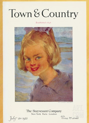 Town & Country, July 15th, 1922 Stretched Canvas Print
