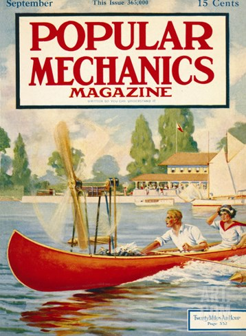 Popular Mechanics, September 1913 Stretched Canvas Print