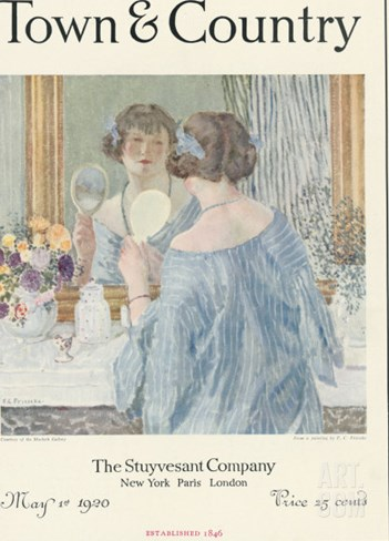 Town & Country, May 1st, 1920 Stretched Canvas Print