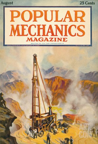 Popular Mechanics, August 1922 Stretched Canvas Print
