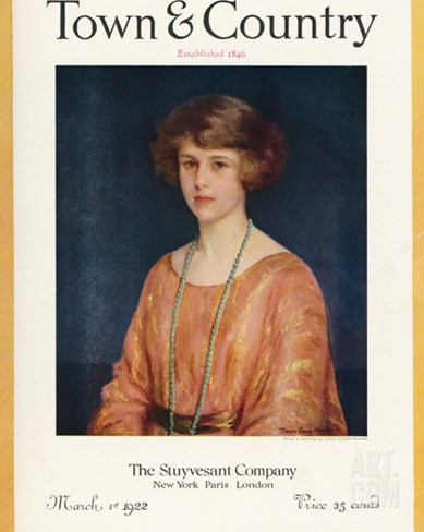 Town & Country, March 1st, 1922 Stretched Canvas Print