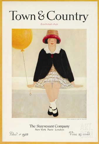 Town & Country, December 1st, 1922 Stretched Canvas Print