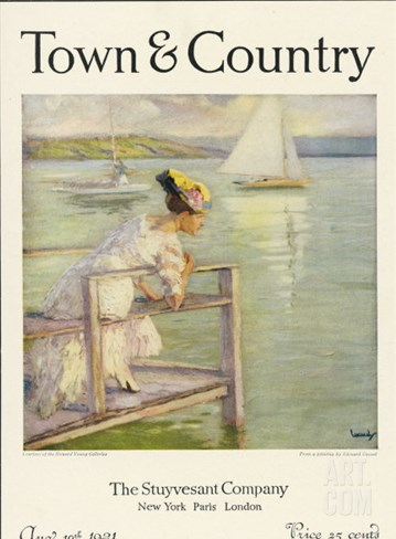Town & Country, August 10th, 1921 Stretched Canvas Print
