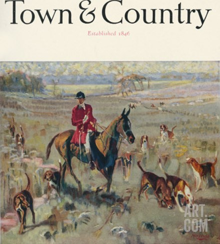 Town & Country, October 15th, 1923 Stretched Canvas Print