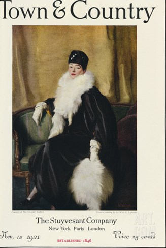 Town & Country, November 1st, 1921 Stretched Canvas Print