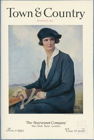 Town & Country, November 1st, 1923 Stretched Canvas Print