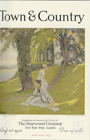 Town & Country, August 20th, 1920 Stretched Canvas Print
