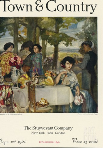 Town & Country, September 10th, 1921 Stretched Canvas Print
