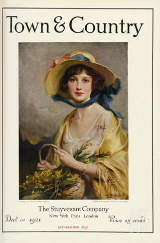 Town & Country, December 1st, 1921 Stretched Canvas Print