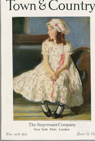 Town & Country, December 10th, 1917 Stretched Canvas Print