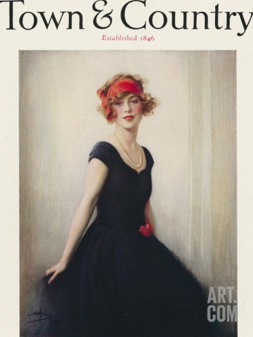 Town & Country, September 1st, 1923 Stretched Canvas Print