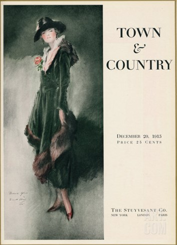 Town & Country, December 20th, 1915 Stretched Canvas Print