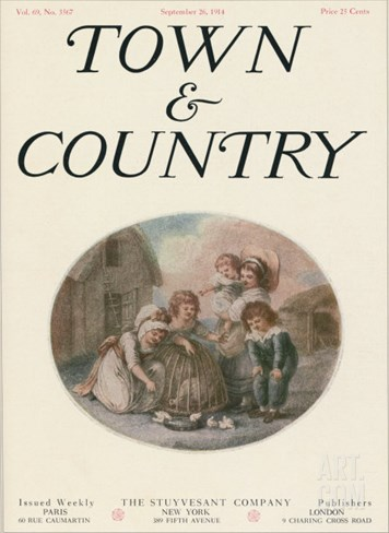 Town & Country, September 26th, 1914 Stretched Canvas Print