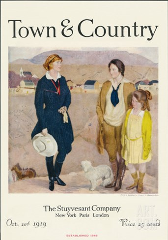 Town & Country, October 20th, 1919 Stretched Canvas Print