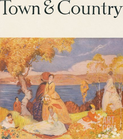 Town & Country, August 20th, 1916 Stretched Canvas Print
