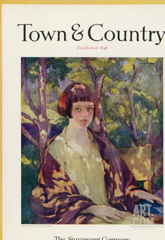 Town & Country, August 15th, 1923 Stretched Canvas Print