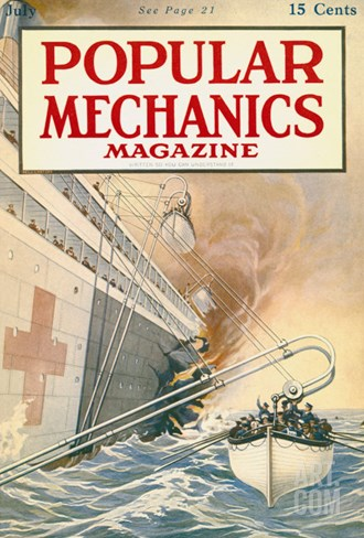 Popular Mechanics, July 1917 Stretched Canvas Print