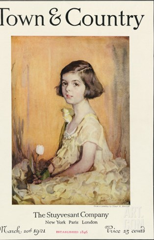 Town & Country, March 20th, 1921 Stretched Canvas Print