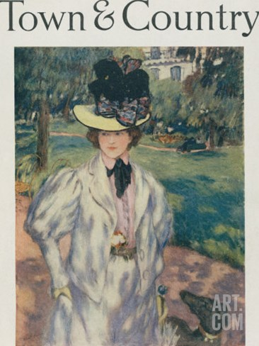 Town & Country, April 11, 1918 Stretched Canvas Print
