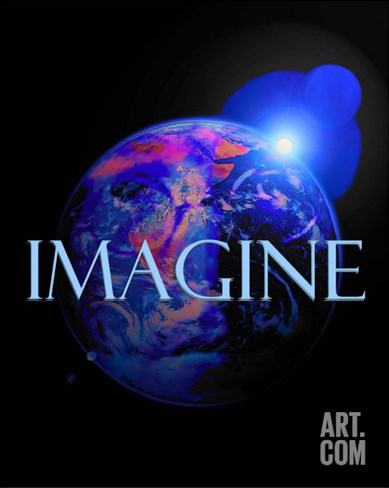 Imagine-John Lennon Stretched Canvas Print