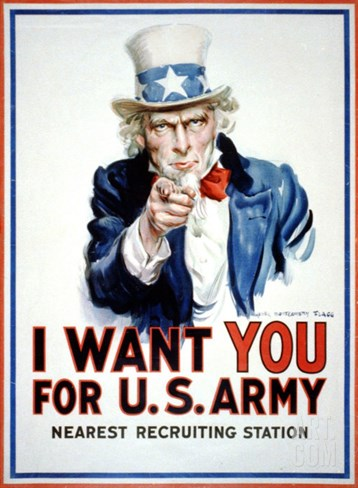 I Want You for the U.S. Army Stretched Canvas Print
