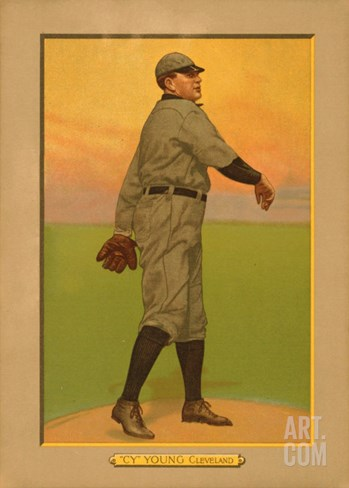 Cy Young, 1911 (T3) Turkey Red Cabinets Trading Card Stretched Canvas Print