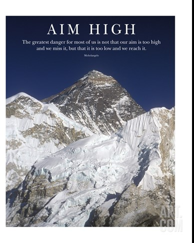 Aim High - Mt Everest Summit Stretched Canvas Print